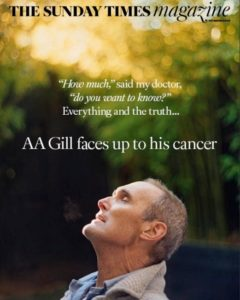 AA Gill faces up to his cancer